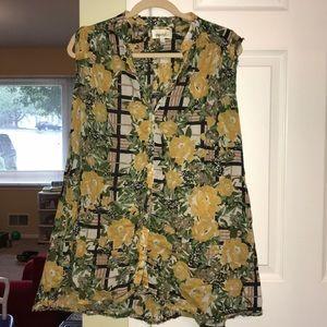 Porridge flowered sleeveless tunic top/dress